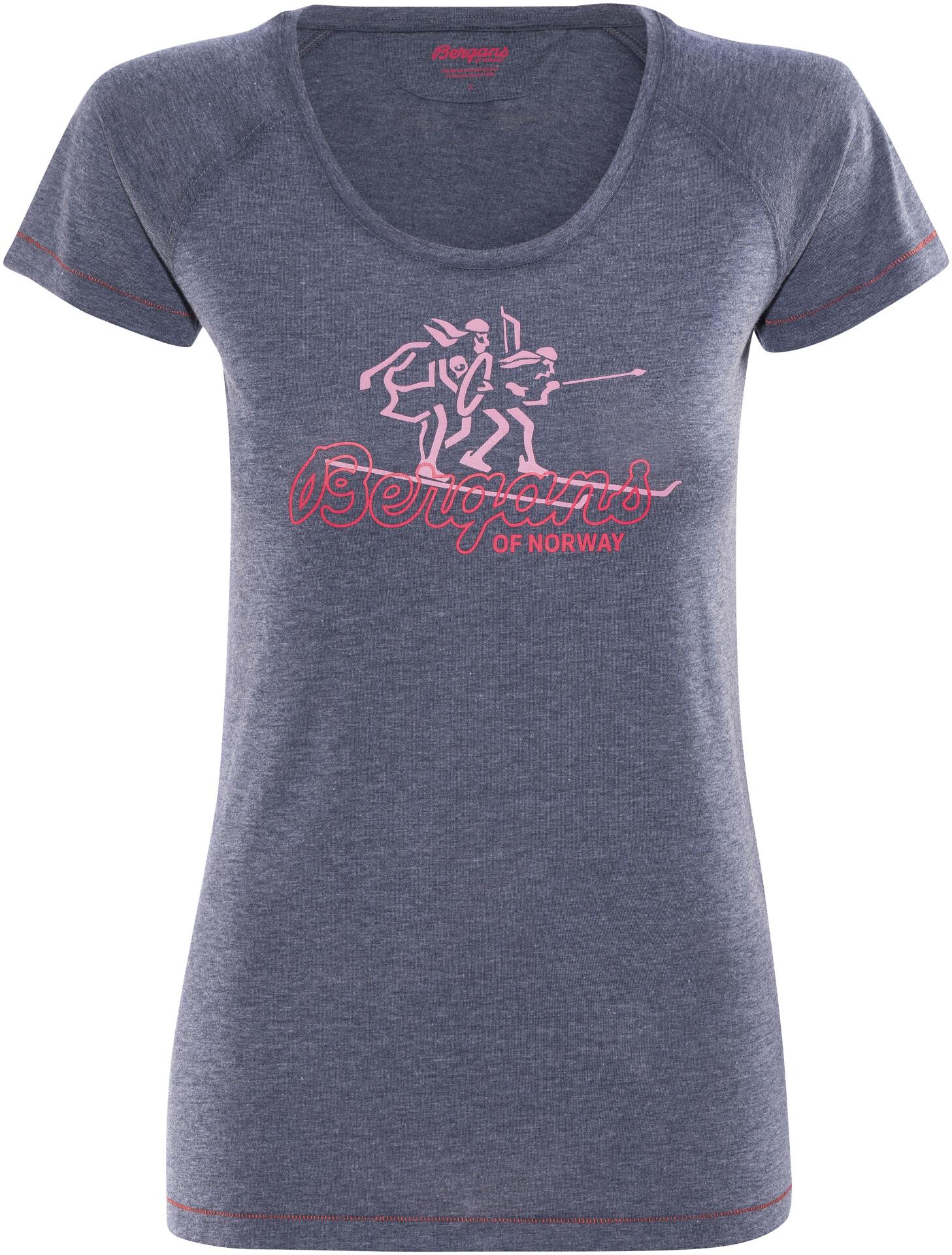 Tee Bergans Femme Shirt Bleu Manches T Courtes 8P0kwnO